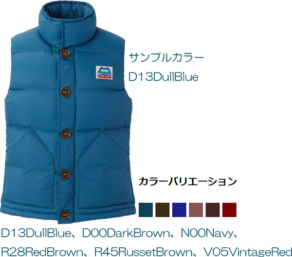 Ws Classic Down Vest/ダルブルー(D13)/XSの画像1