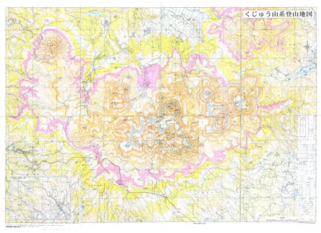 くじゅう山系 登山ガイドマップの画像2